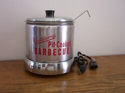 Vintage Westbend Castleberry's Pit Cooked Barbecue Electric Server Barbeque Adv