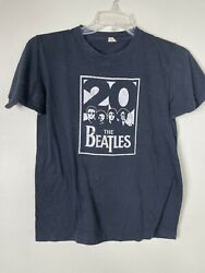 Vintage 80's Graphic Distressed Tshirt Screen Stars The Beatles 20th Fits Small
