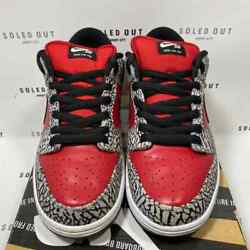 Nike Sb Dunk Low Supreme Red Cement 2012 - Size 9.5 - 313170 600 10197-4
