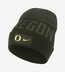Nike Shield College And039oregon Ducksand039 Adult Unisex Beanie [cq9515-355]