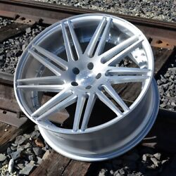 Set Of Four Road Force Wheels Rf11 22x9 5x120 28 Brushed Silver
