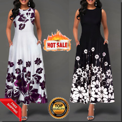 Elegant Long Dresses Floral Fashion Clothes For Women Casual Party 2020 New $17.99