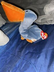 Rare Ty Beanie Baby Scoop Pelican 1996 With P.e. Pellets. Collectors Item.