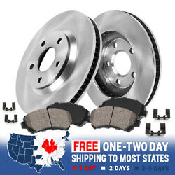 Front Brake Disc Rotors And Ceramic Pads 2004 2005 2006 2007 2008 Acura Tl Tls