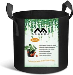 10 Packs 1-20 Gallon Grow Bags Heavy Duty 300g Thickened Nonwoven Fabric Pots