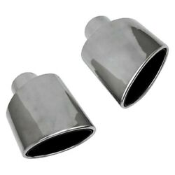 Exhaust Tip Hi-polished Series Stainless Steel Passenger Side Crescent Oval