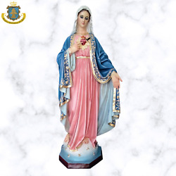 Virgin Mary Immaculate Heart Of Mary Madonna Catholic Statue