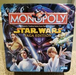 For Parts Star Wars Monopoly Saga Edition Tin Few Character Pieces Cards Only