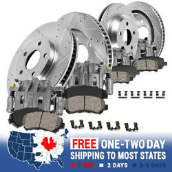 Front And Rear Brake Calipers And Rotors And Ceramic Pads For 2004 Ford F150 4wd