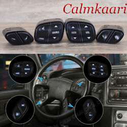4pcs Steering Wheel Switch Control Buttons Kit For Chevy Silverado For Gmc Yukon
