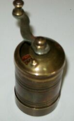 Manual Turquish Copper Grinder For Spices Coffee Bins Miniature Vintage