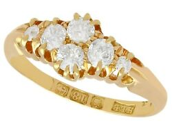 0.54 Ct Diamond And 18k Yellow Gold Dress Ring Antique Victorian