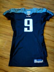 Steve Mcnair 2002 Game Issued Custom Pro Cut Tennessee Titans Football Jersey