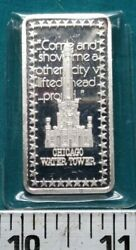 Wonders Of American Hamilton Mint Chicago Water Tower 1 Oz Silver Bar 5346