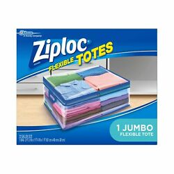 Ziploc Storage Rectangular Bags 1 Jumbo Flexible Totes For Clothes Transparent $11.37