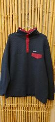 Womens Organic Cotton Quilted Snap-t Pullover Size Xl