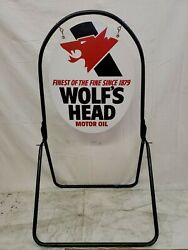 Wolfs Head Oil Gas Oil Vintage Collectable Sign