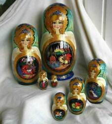 Exclusive Russian Nesting Dolls 7 Pc Set 9 Tall Ruslan And Luydmila