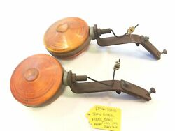 Original Pair Dietz Turn Signal Mouse Ears Amber For 1941-53 Chevy Truck