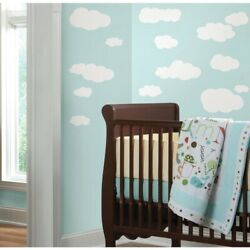 White CLOUDS Peel amp; Stick 19 Wall Decals Baby Nursery Stickers Kids Room Decor