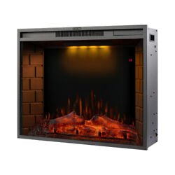 30 Inch Led Recessed Electric Fireplace Remote Control Adjustable Touch Screen