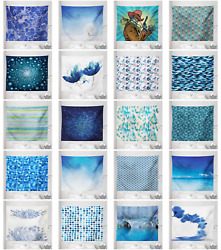 Ambesonne Blue Print Microfiber Tapestry Wall Hanging Decor in 5 Sizes