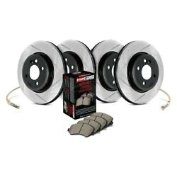For Dodge Neon 95-99 Stoptech Sport Slotted 1-piece Front And Rear Brake Kit