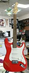 Vintage Aria Budweiser Stratocaster From Neon Sign Fender Soft Case Very Nice