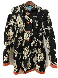 Anthropologie Plenty By Tracy Reese Phlox And Coral Womens Coat Size 2
