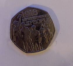 Rare Collectable 1918 Representation Of The People Act 50p Fifty Pence Coin 2018