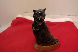 Carved Cat from animal horn