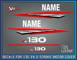 Yamaha 130hp V4 2stroke Outboard Engine Replacement Die-cut Stickers