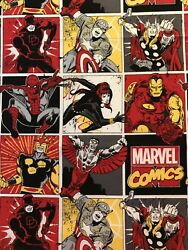 Marvel Super Heroes Red Yellow amp; Black Comics Make Masks Or Crafts FQ Fabric