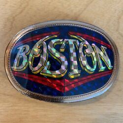 BOSTON Vintage Pacifica Belt Buckle 1977 VERY NICE FREE SHIPPING