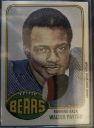 2001 Topps To-wp Walter Payton 3 Color Game Worn Jersey Patch