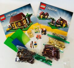Lego 5766 Creator 3 In 1 Log Cabin House -retired - With Instructions And Box