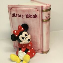 Tokyo Disney Land Collectible Minnie Mouse Bookend Used Super Rare Vintage