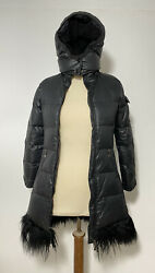 Moncler Black Hooded Coat 100 Polyester Size 10 Years Old Excellent Con