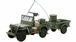 Autoart 1/18 Jeep Willis Army Green Trailer Accessories Accessories Finished P