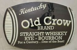 Old Crow Whiskey Rye Bourbon Breweriana Vintage Collectable Whiskey Sign