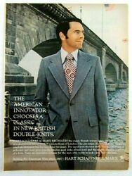 1972 Hart Schaffner And Marx British Double-knit Suits Magazine Ad