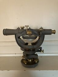 Vintage David White Transit Brass Surveying Scope Field Level With Accessories