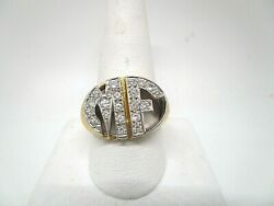 14 K Gold And Diamond Initial Ring Mf