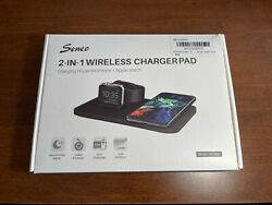 Seneo 2 In 1 Wireless Chargerpad Phone Watch Charger Model Pa150a Fast Free Ship