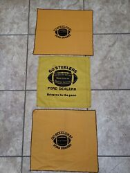 Pittsburgh Steelers Go Ford Dealers Vintage Terrible Towel Wave On Touchdown Lot