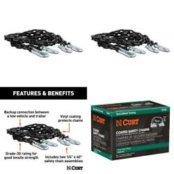 65 Safety Chains With 2 Snap Hooks Each 5000 Lbs. Vinyl-coated 2-pack