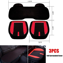 3pcs Car Front And Rear Full Surrounded Interior Seat Cushion Protective Cover Mat