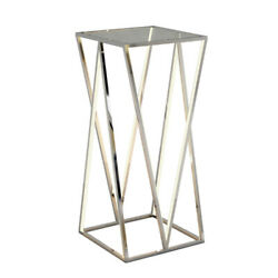 Et2 E71003-pc Victory 4-light 15.75 Wide Polished Chrome Accent Table
