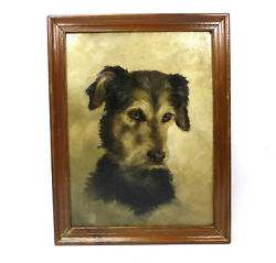 Oil Painting Picture Dog Terrier Russel B-585