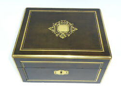 Travel Necessaire About 1860 England France Inkwell Brush